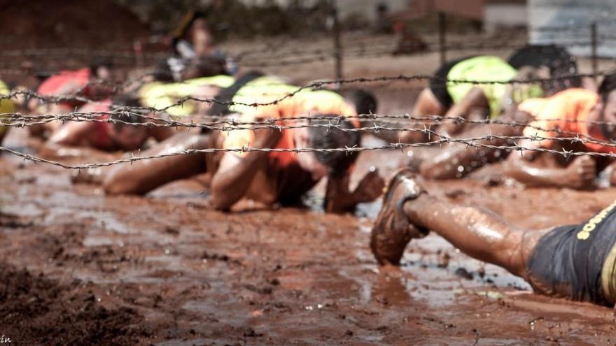 La única carrera de obstáculos de La Palma que se celebró el domingo, 28 de agosto, en la Villa de Garafía. Foto: ALEXIS MARTÍN.