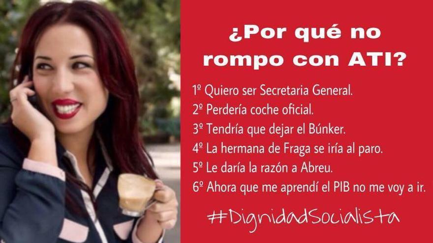 Meme sobre Patricia Hernández que circula por las redes sociales