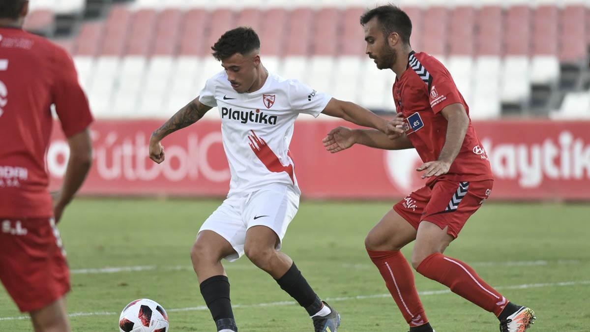 Alejandro Viedma durante un encuentro con el Sevilla Atlético