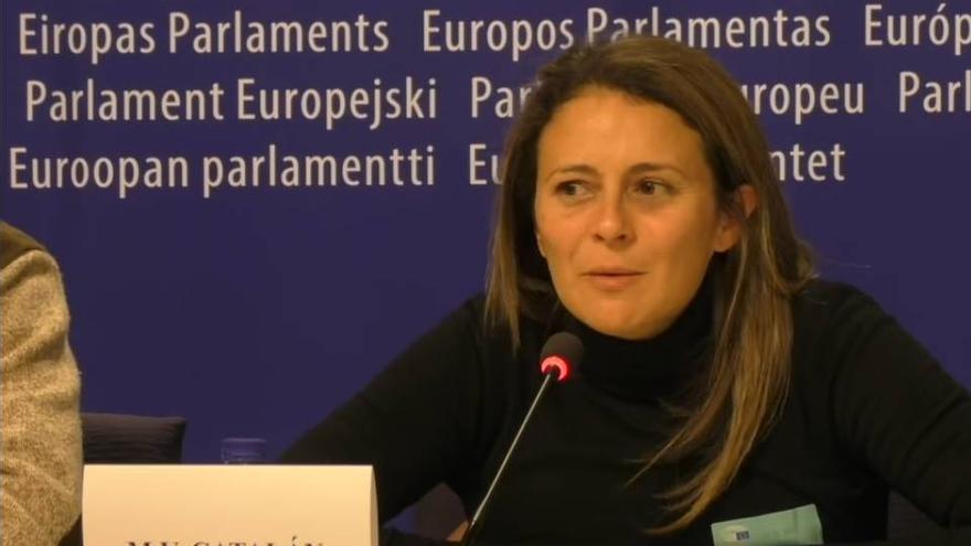 Vanesa Catalán en el Parlamento Europeo.