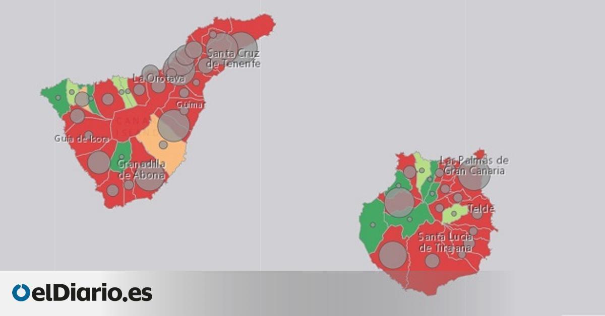 Gran Canaria presenta cuatro indicadores epidemiológicos en riesgo  alto  y Tenerife tres el día en que se revisan sus medidas