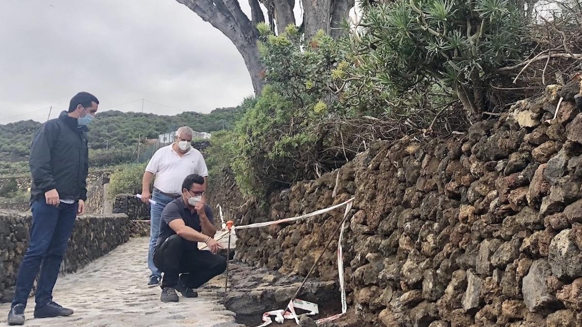 Borja Pérez visitó los trabajos en la red de senderos.