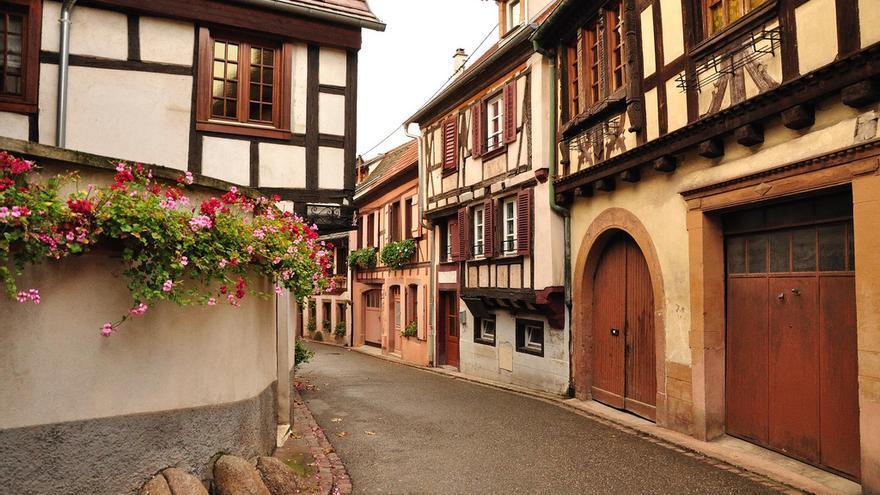 Calles de Ribeauvillé, uno de los pueblos más bonitos de la Alsacia. André P. Meyer-Vitali (CC)