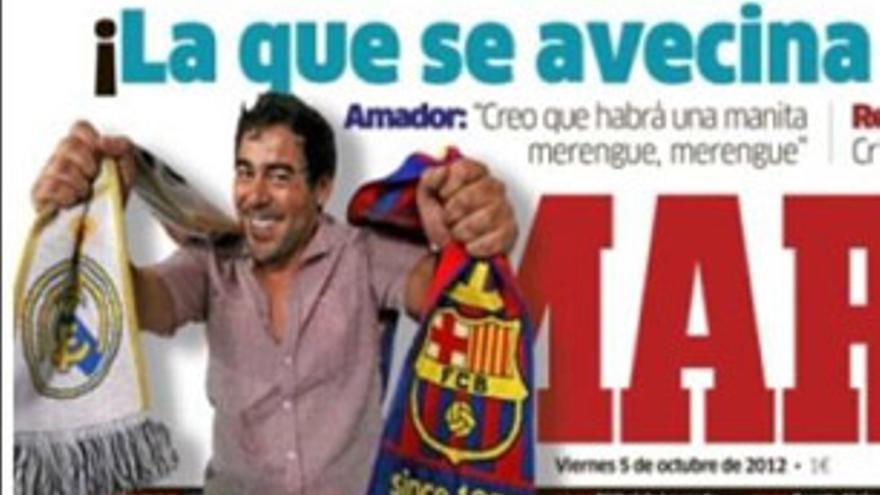 'La que se avecina' con el Barça-Madrid: Amador y Recio en la portada de Marca