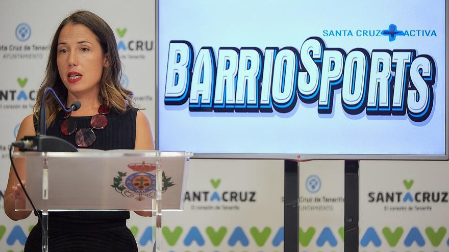 Patricia Hernández durante la rueda de prensa de este jueves.