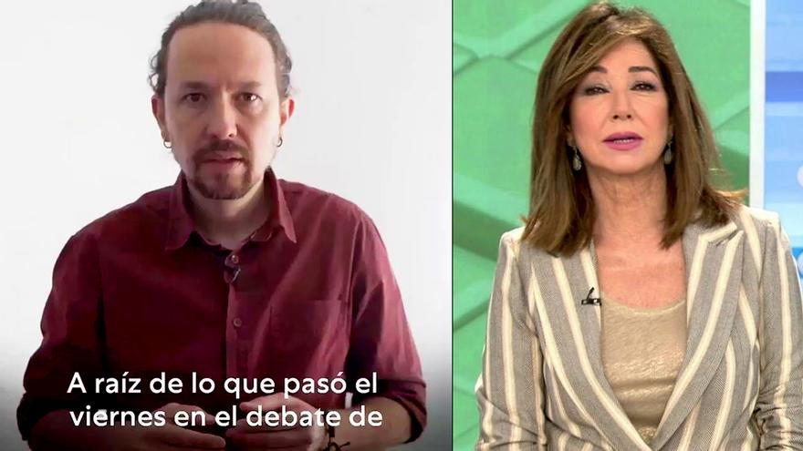 """Pablo Iglesias replica a Ana Rosa y anuncia que la demandará si Mediaset no rectifica su """"mentira"""" sobre las residencias"""