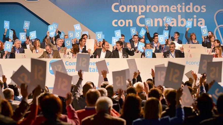 Ignacio Diego fue reelegido presidente del PP de Cantabria con el 98,7% de los votos en mayo de 2012.
