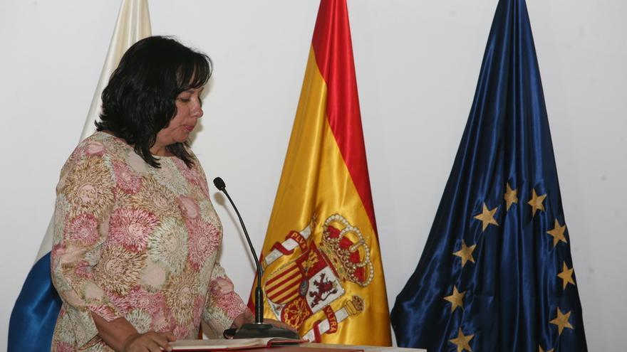 Soledad Monzón, consejera de Educación y Cultura (CC). (ALANDRO RAMOS)