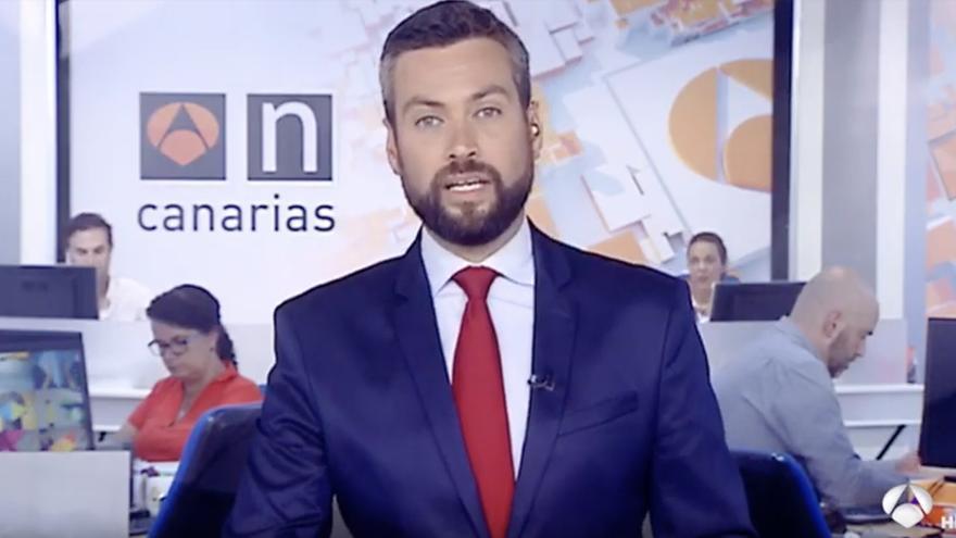Jazael Ascanio despide el último informativo de Antena 3 Canarias.