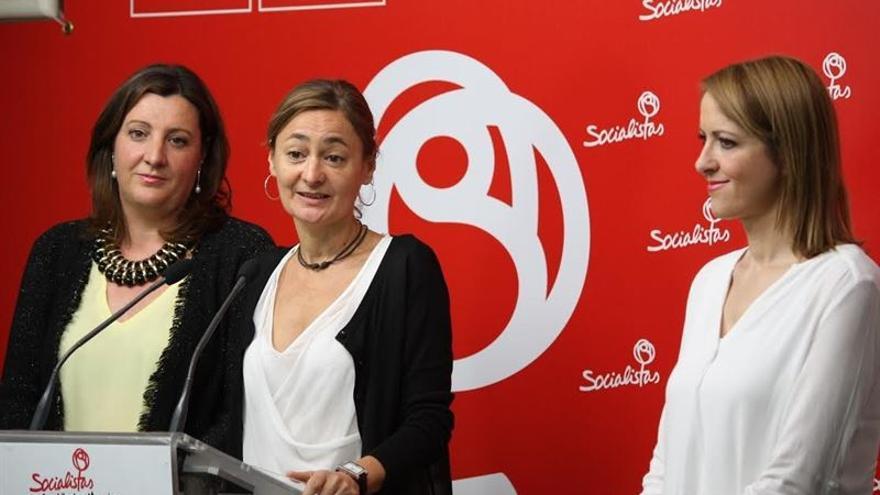 Patricia Franco, María Luz Rodríguez y Cristina Maestre / PSOE