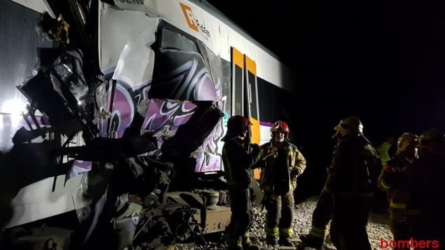 El tren accidentado entre Sant Vicenç Castellet y Manresa. | Bombers de Catalunya