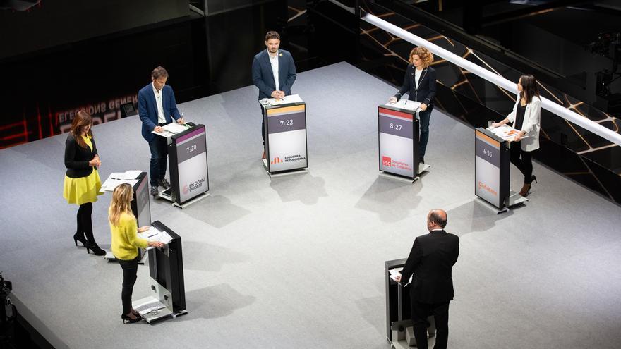 ERC, PP, Cs, JxCAT y comuns centran sus críticas sobre el PSC en el debate de TV3