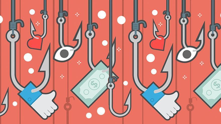 Ilustración que representa el fenómeno del 'clickbait'