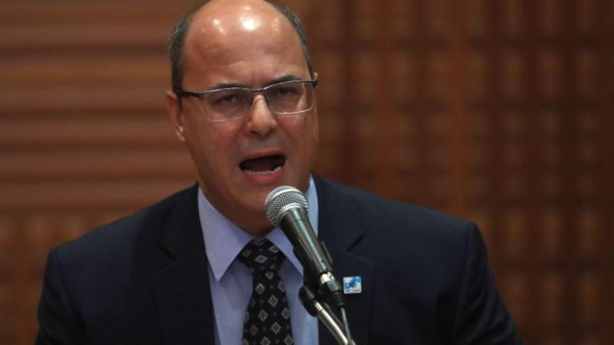 En la imagen, el gobernador de Río de Janeiro, Wilson Witze.