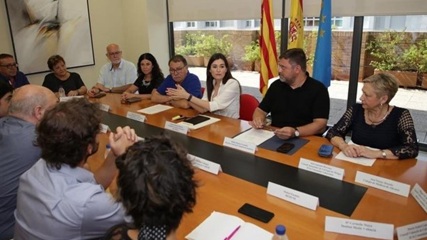 La consellera Carmen Montón explica les actuacions en relació amb l'homeopatia a representants de diferents col·lectius
