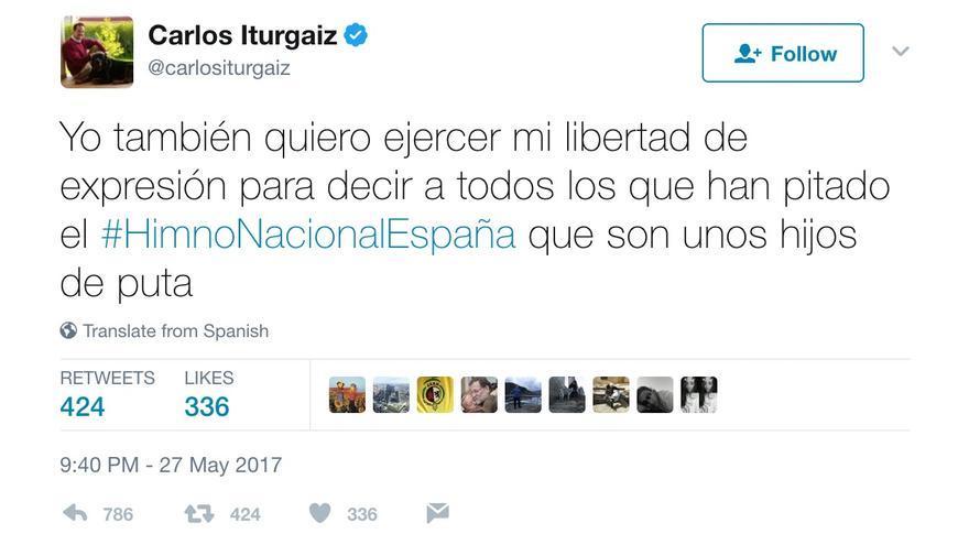 Tuit de Carlos Iturgaiz.