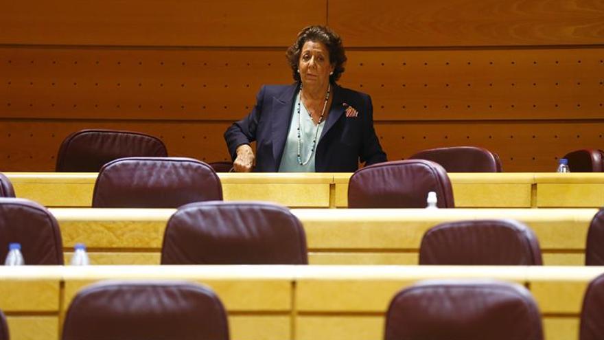 Rita Barberá comparecerá mañana como investigada ante el Supremo