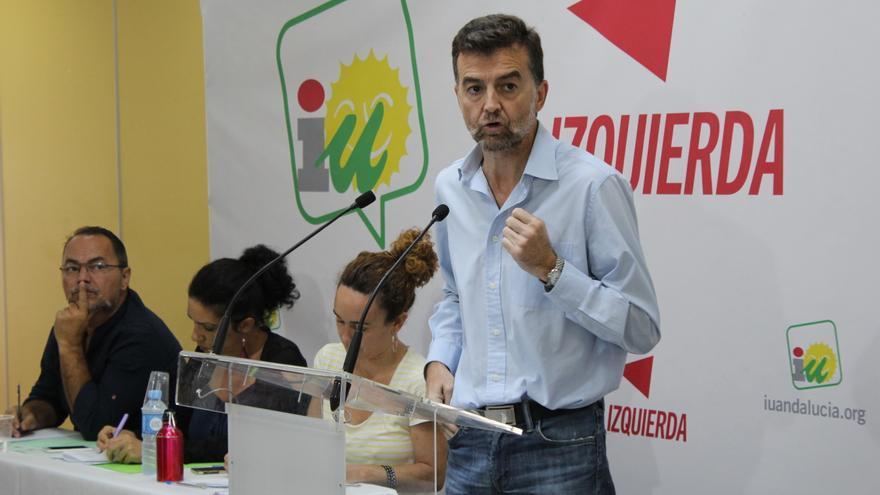 El líder andaluz de IU, Antonio Maíllo, presenta su informe a la coordinadora regional.