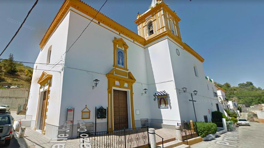 Iglesia de Gelves (Sevilla) donde se iba a celebrar la misa.
