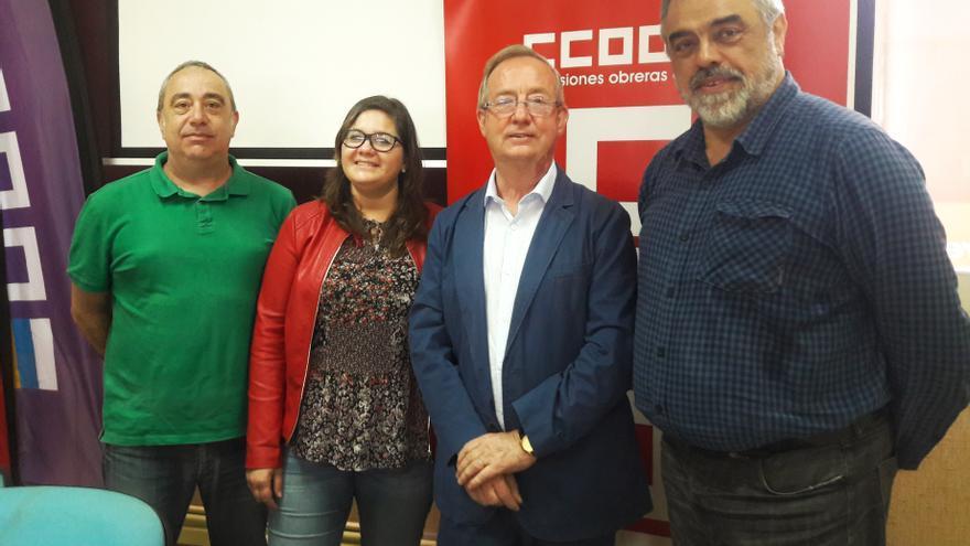 Integrantes de CCOO que este miércoles presentaron los resultados del estudio en Santa Cruz de Tenerife