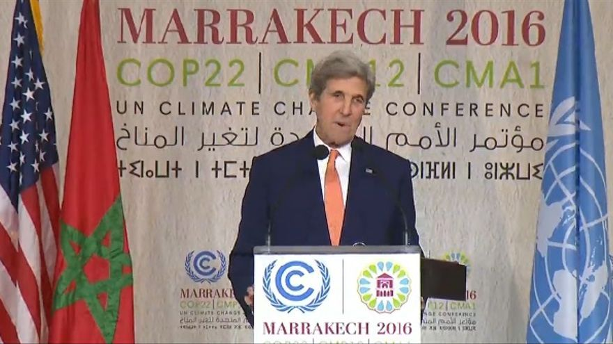 John Kerry en la COP22 de Marrakech.