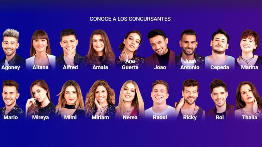 Televisión Española confirma oficialmente a los 18 concursantes de OT 2017
