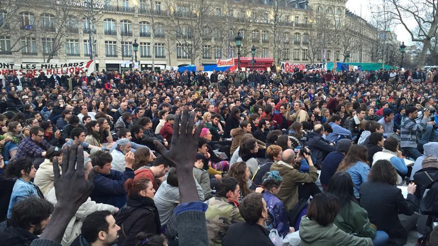 Movilización social en París.