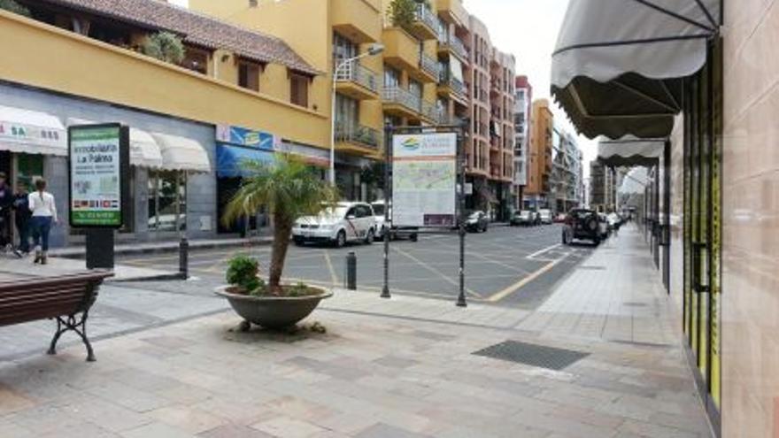 Imagen de archivo de la Avenida de Venezuela de Los Llanos de Aridane.