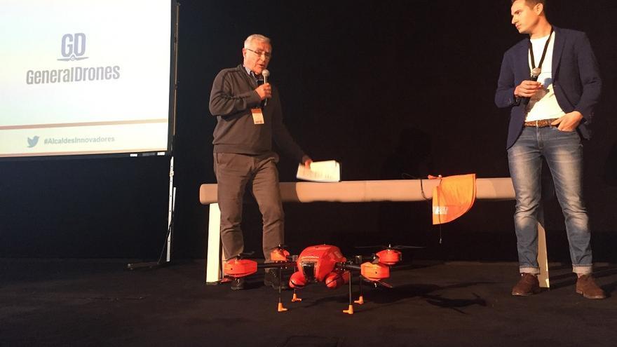 El dron ha sido presentado en el II Encuentro de Alcaldes e Innovadores Red InnPulso