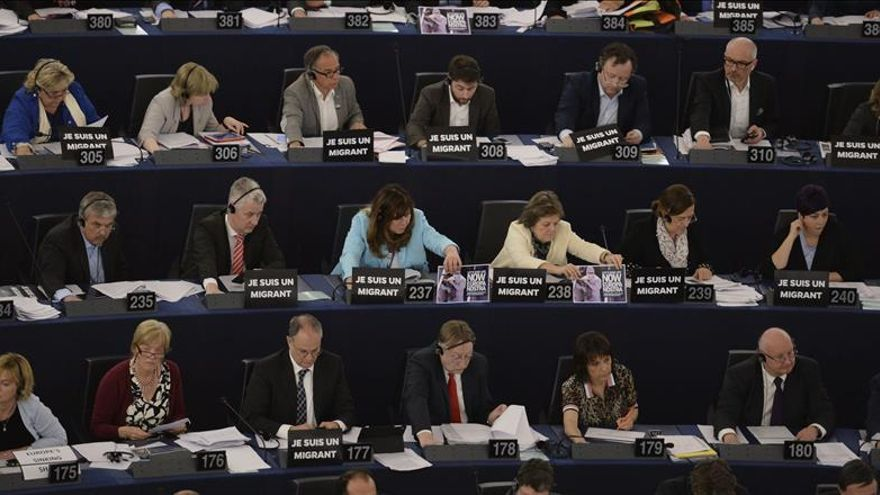 Los eurodiputados en la sede del Parlamento Europeo en Estrasburgo (Francia). / Efe