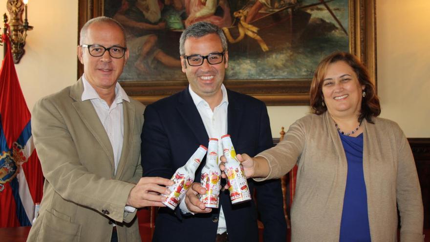 De izquierda a derecha: Luis Durango, Sergio Matos y Guadalupe González Taño.