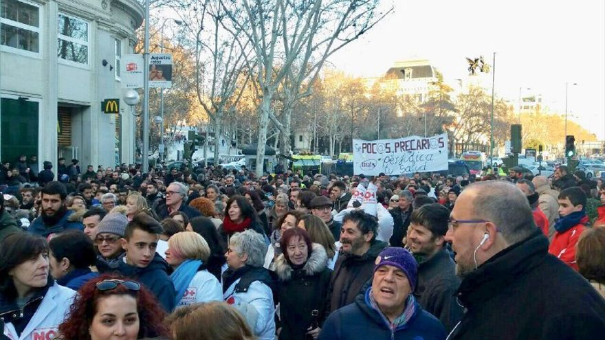 Manifestación contra la precariedad en Madrid