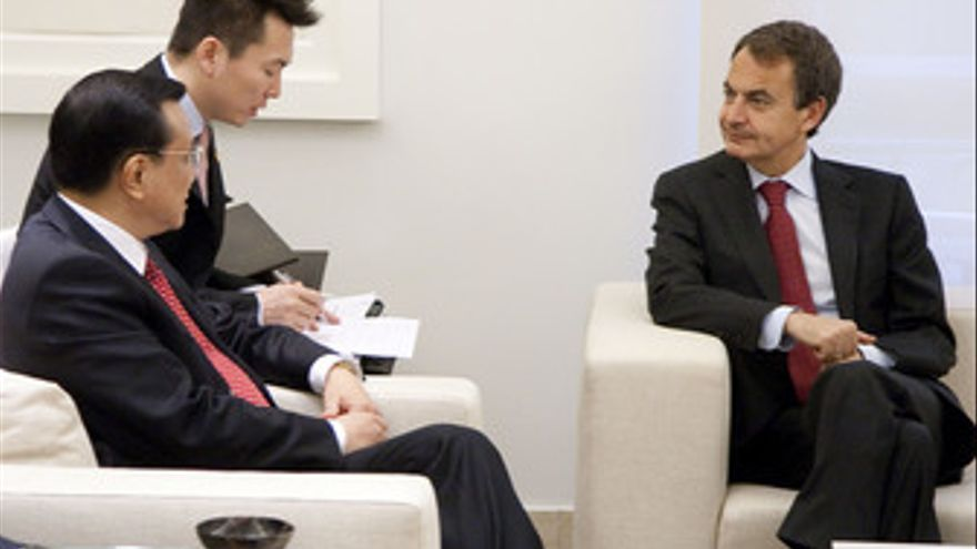 Viceprimer ministro de la República Popular China, Li Keqiang, y el presidente d