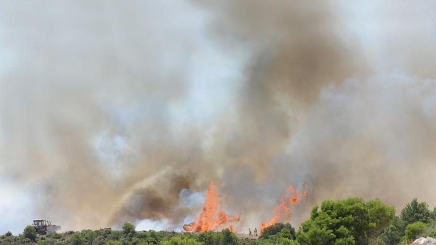 El incendio declarado en el campo de maniobras de San Gregorio en agosto de 2009 calcinó más de 5.000 hectáreas de monte de varios municipios zaragozanos.