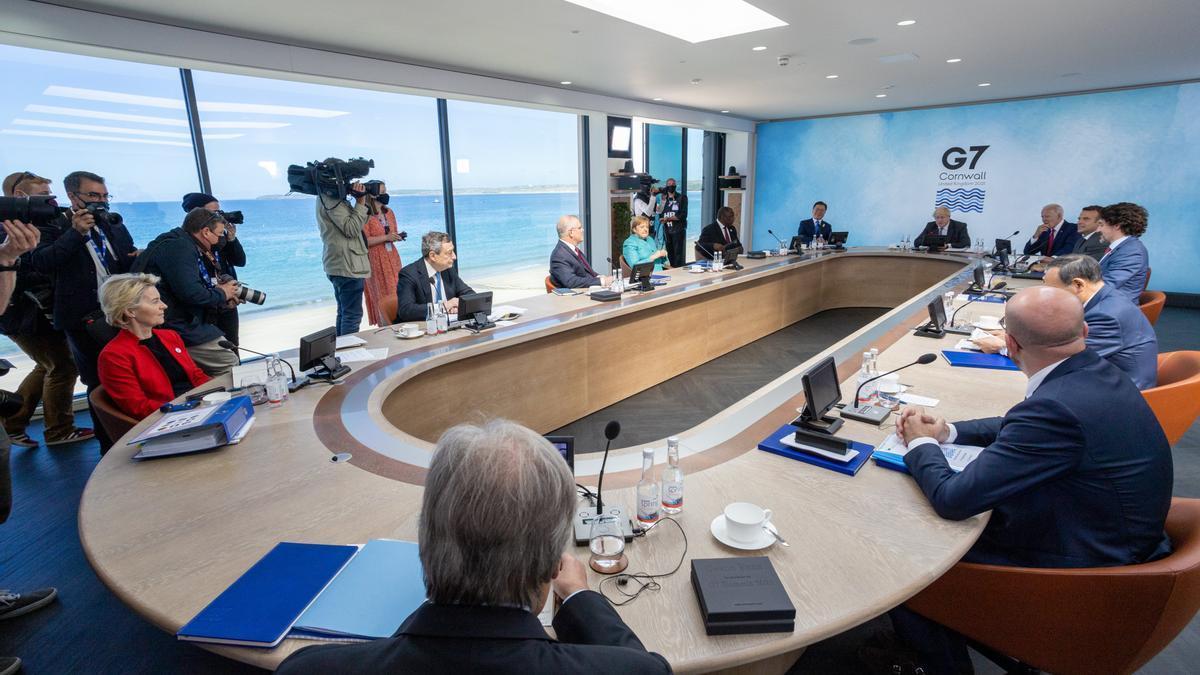 Los líderes del G7 reunidos en Inglaterra