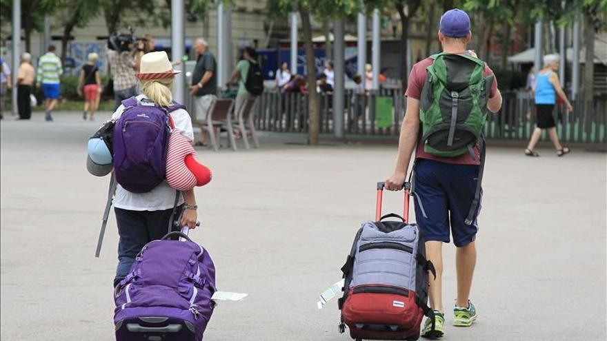 Dos turistas. Fotos de archivo