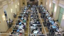Oficina de Hacienda en pena campaña de la Renta.