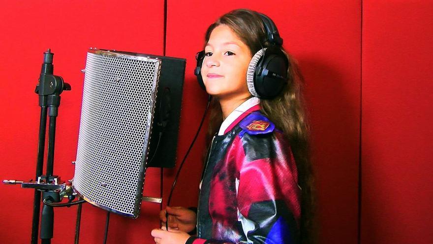 Soleá graba su tema para Eurovisión Junior 2020