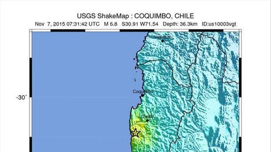 Un sismo de 6,8 grados de magnitud afecta de madrugada a tres regiones de Chile