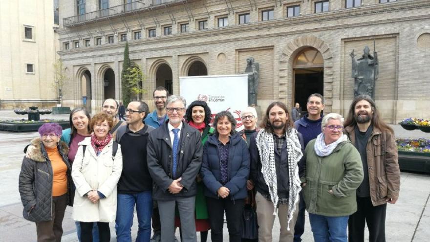 Personas que forman parte de la lista de Zaragoza en Común que concurrirá a las próximas elecciones municipales
