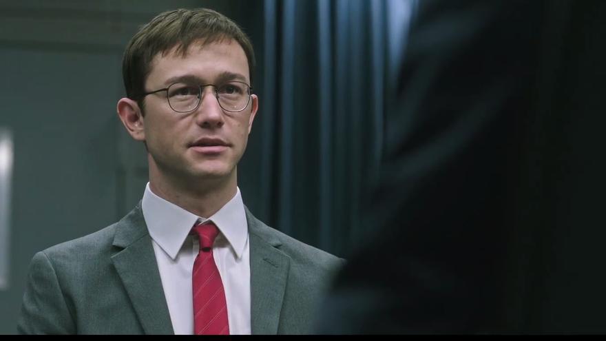 Joseph Gordon-Levitt en su papel de Snowden.