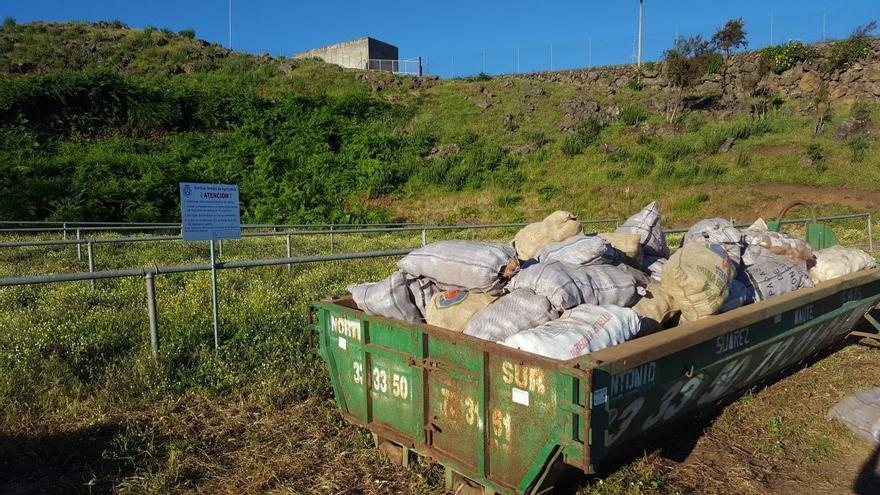 Uno de los contenedores habilitados, en este caso el ubicado en Benijo, parte alta de La Orotava