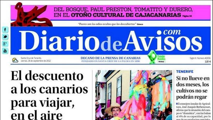 De las portadas del día (14/09/2012) #2