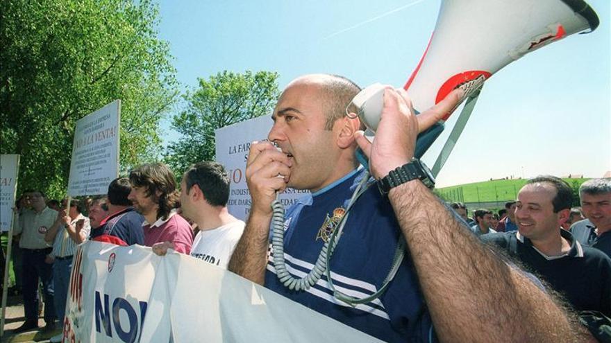 Protesta de trabajadores contra despidos. EFE