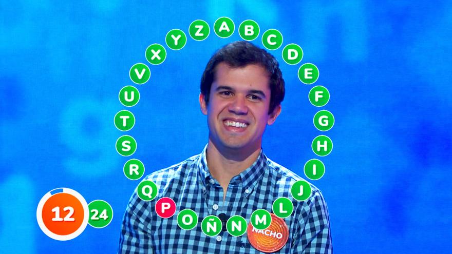 Nacho se quedó a una pregunta de completar 'El Rosco' de 'Pasapalabra'