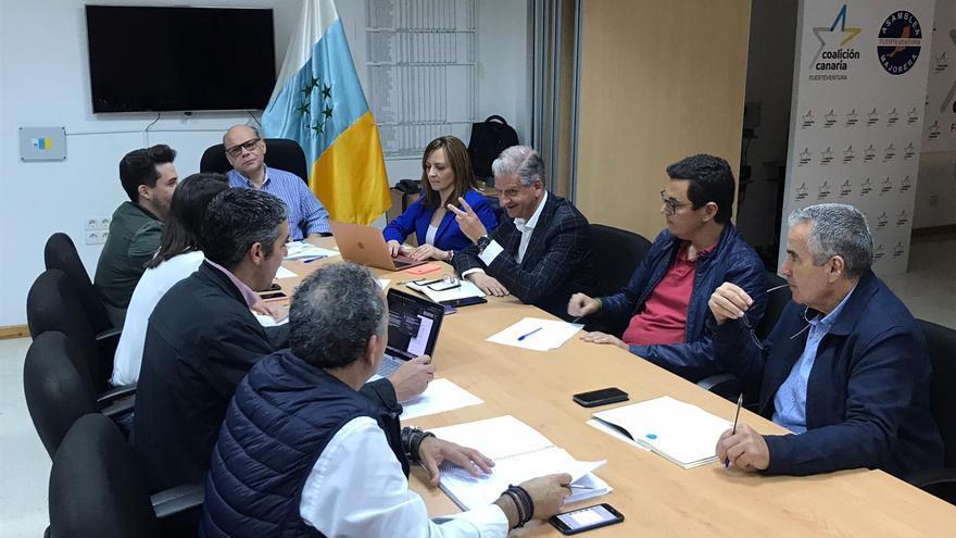 Reunión del secretario general nacional de CC, José Miguel Barragán, y los secretarios insulares de las siete islas.