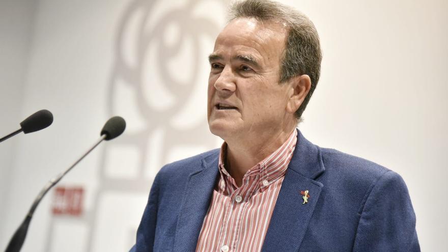 El secretario general del PSOE en Zaragoza, Juan Antonio Sánchez Quero