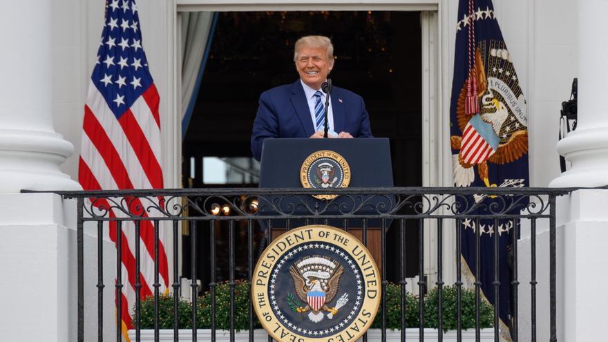 """""""Me siento muy bien"""", dice Trump en su primer acto tras dar positivo por COVID-19"""