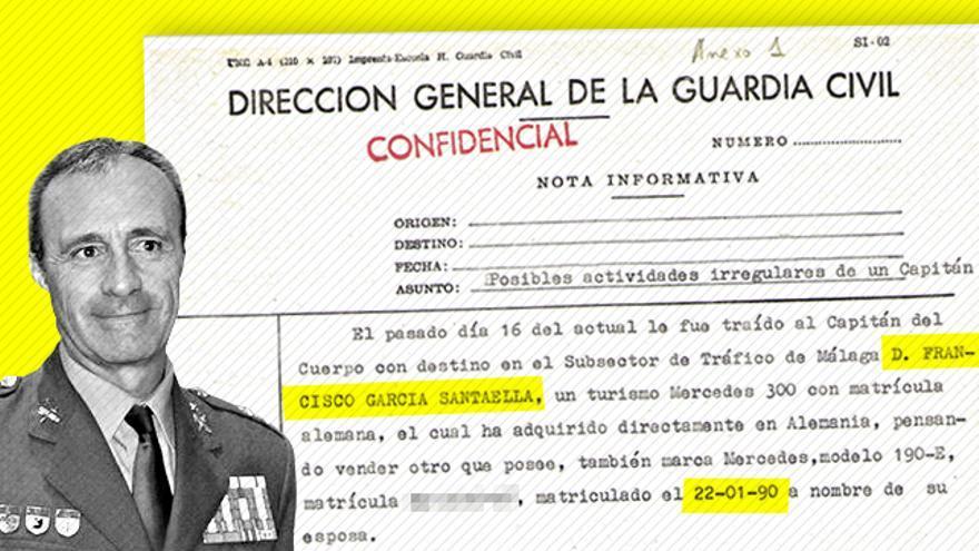 Informe confidencial sobre el coronel García Santaella fechado en 1990