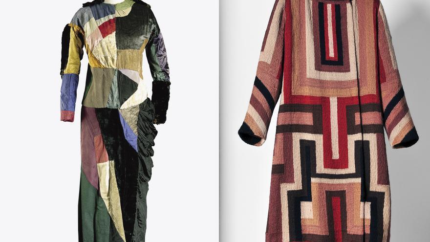 Vestido y abrigo de la exposición 'Sonia Delaunay arte, diseño moda'